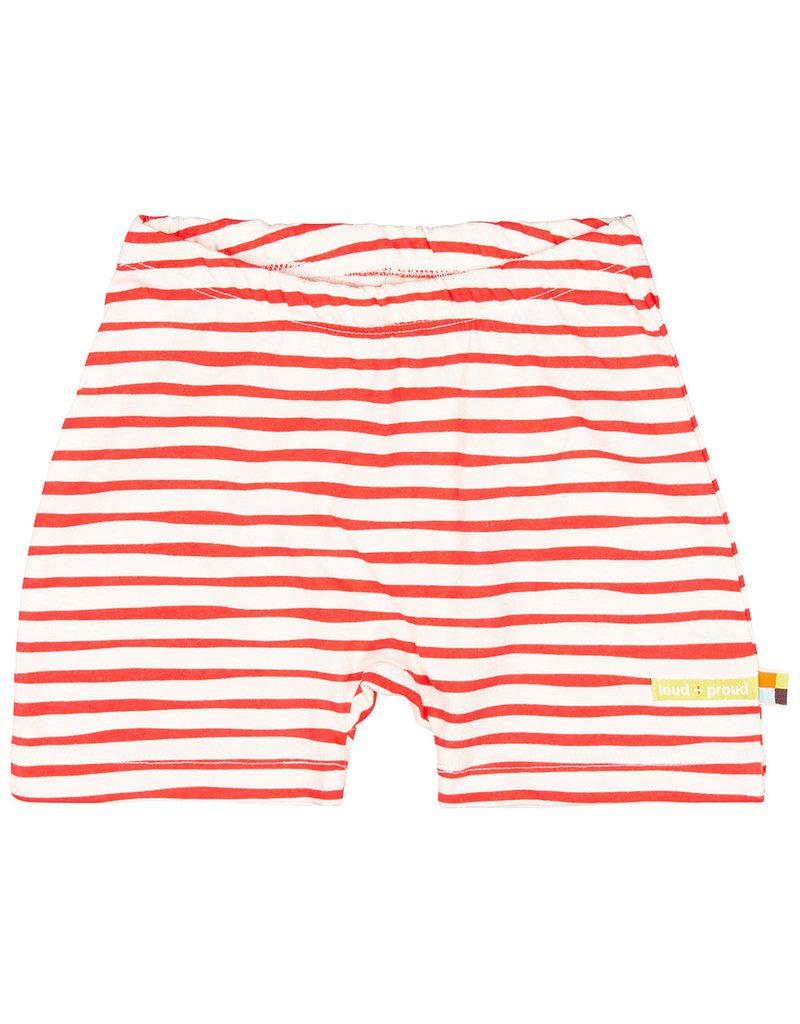 loud+proud Korte broek -  rode strepen