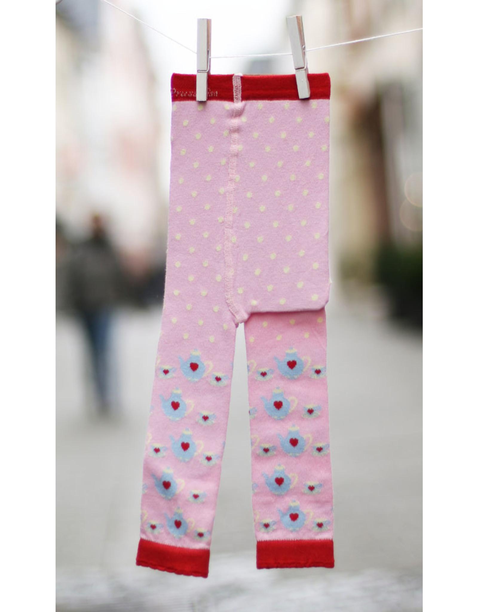 Fräulein Prusselise Children's leggings - teacups