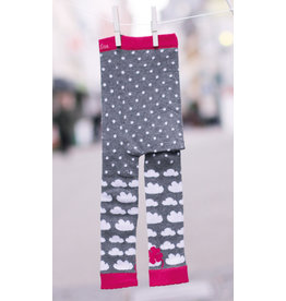 Fräulein Prusselise Children's leggings - clouds