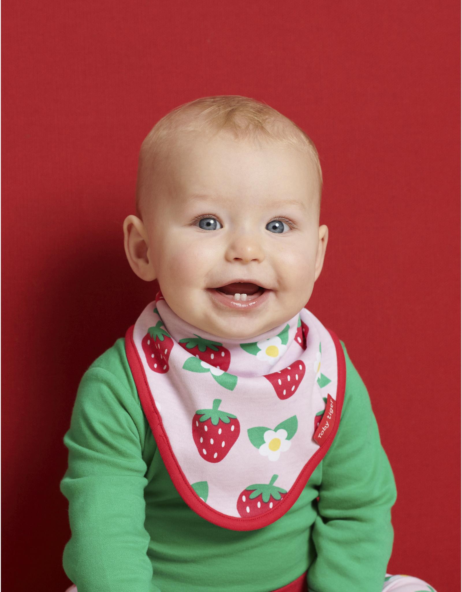 Toby Tiger Baby slabbertje - aardbei