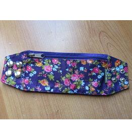 Huisteil Polsband - paarse bloemen