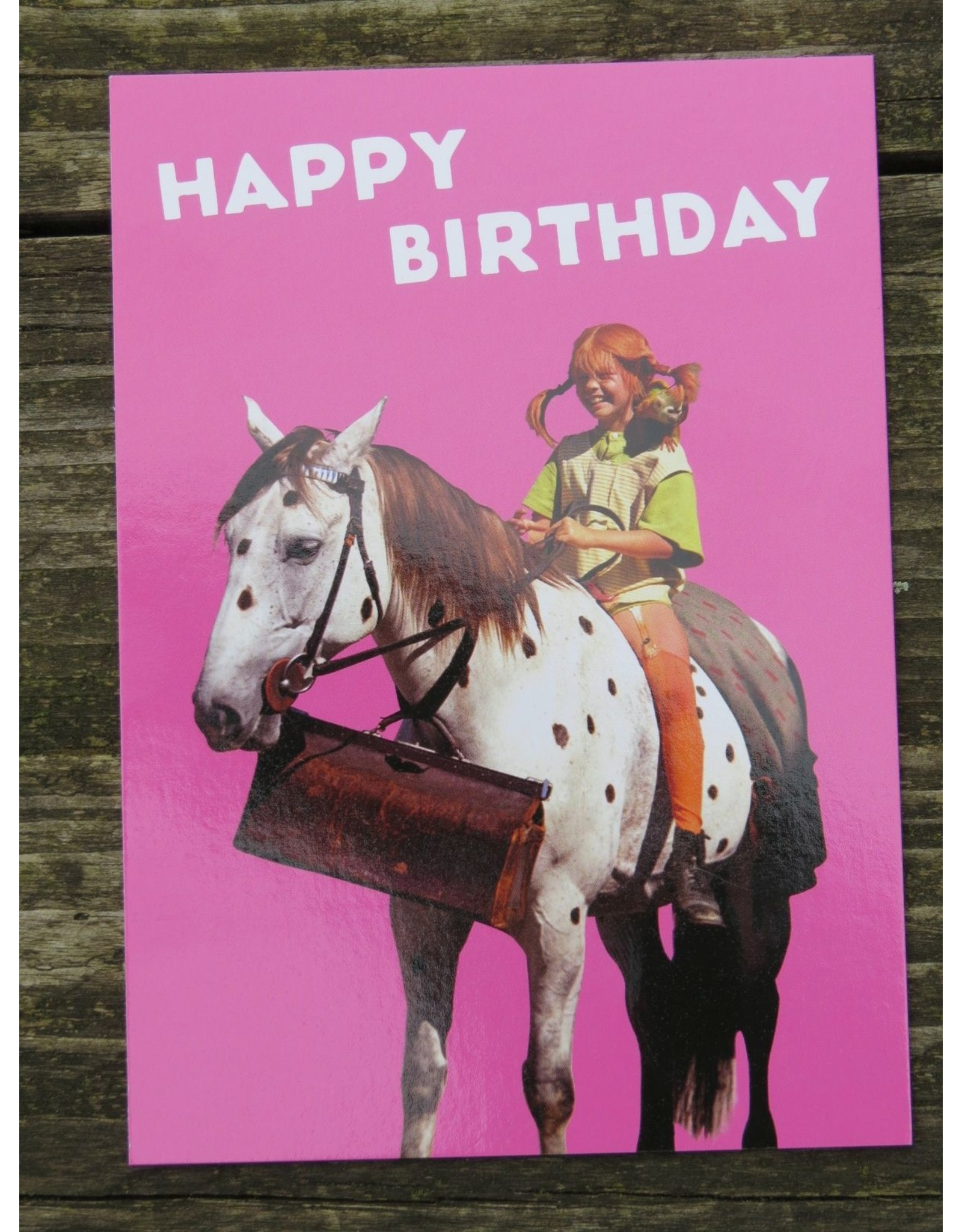 Pippi Langkous Pippi Longstocking birthday card - Little Old Man