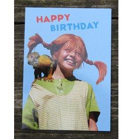 Pippi Langkous Pippi Longstocking birthday card - Mr. Nilson