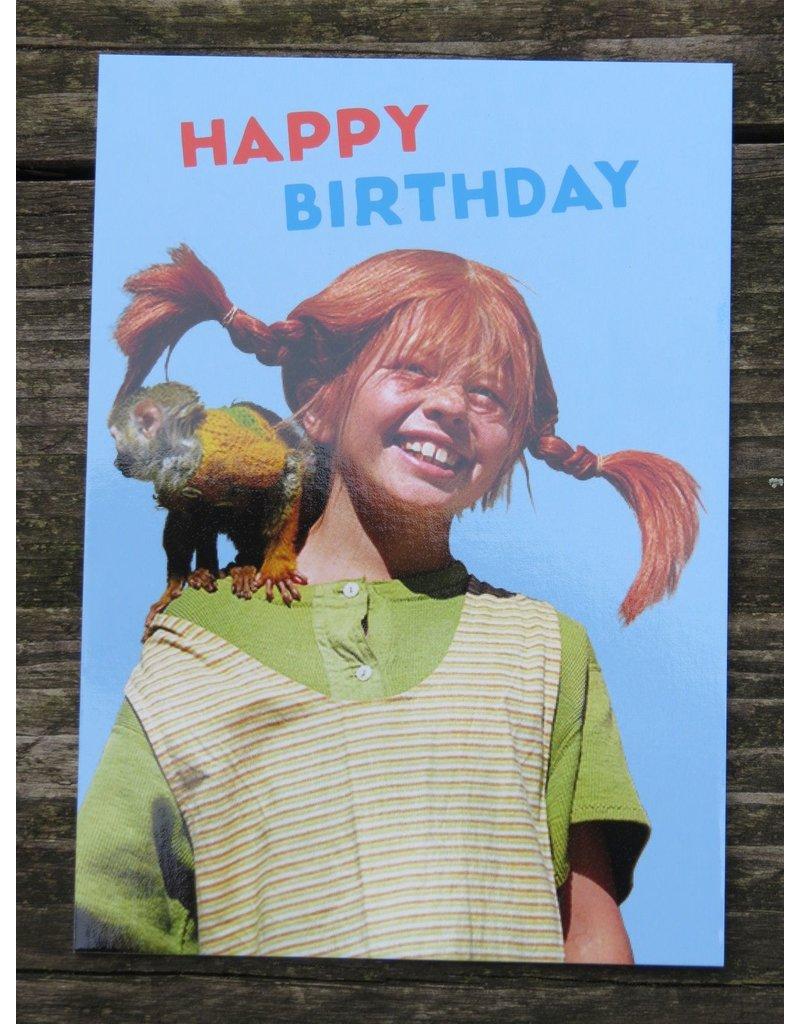 Pippi Langkous Pippi Langkous verjaardagskaart - meneer Nielson