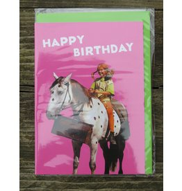 Pippi Langkous Pippi Longstocking birthday card with envelope - Little Old Man