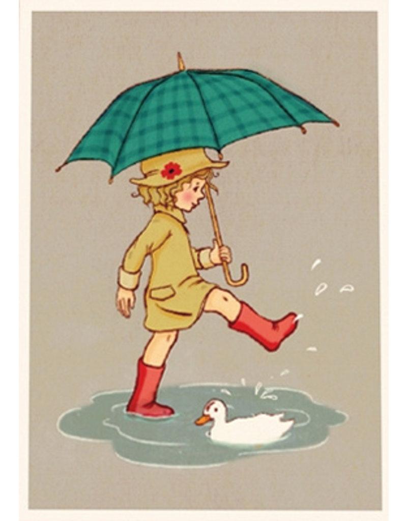 Belle & Boo card - Umbrella