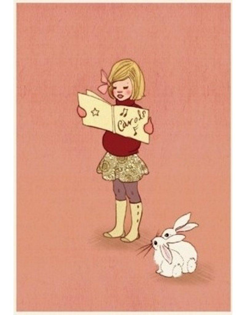 Belle & Boo christmas card - Carol singing