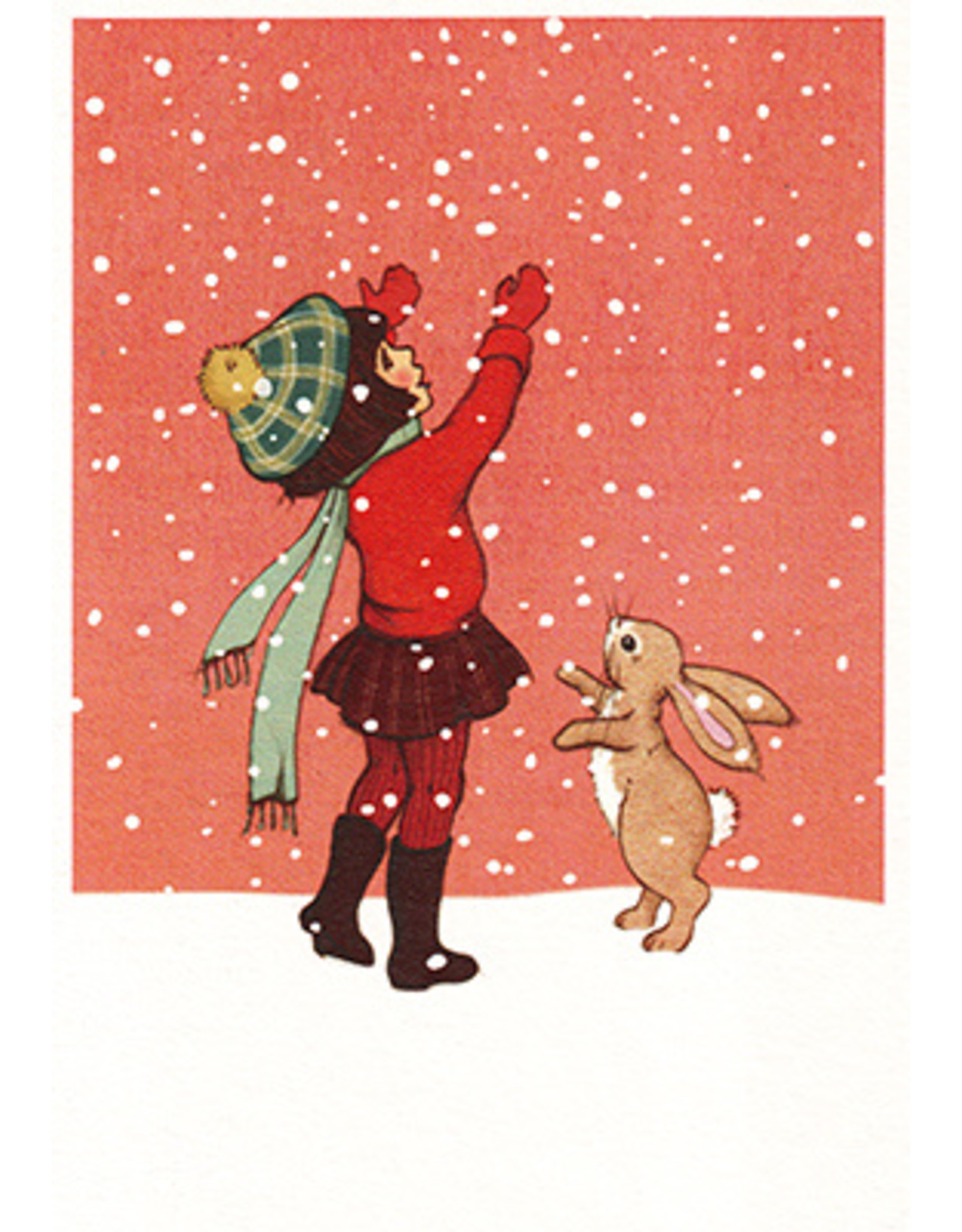 Belle & Boo christmas card - Catching snow