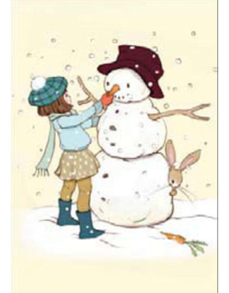 Belle & Boo kerstkaart - De sneeuwpop