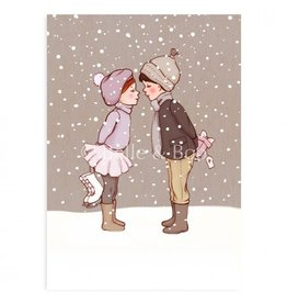 Belle & Boo kerstkaart - Winterkus