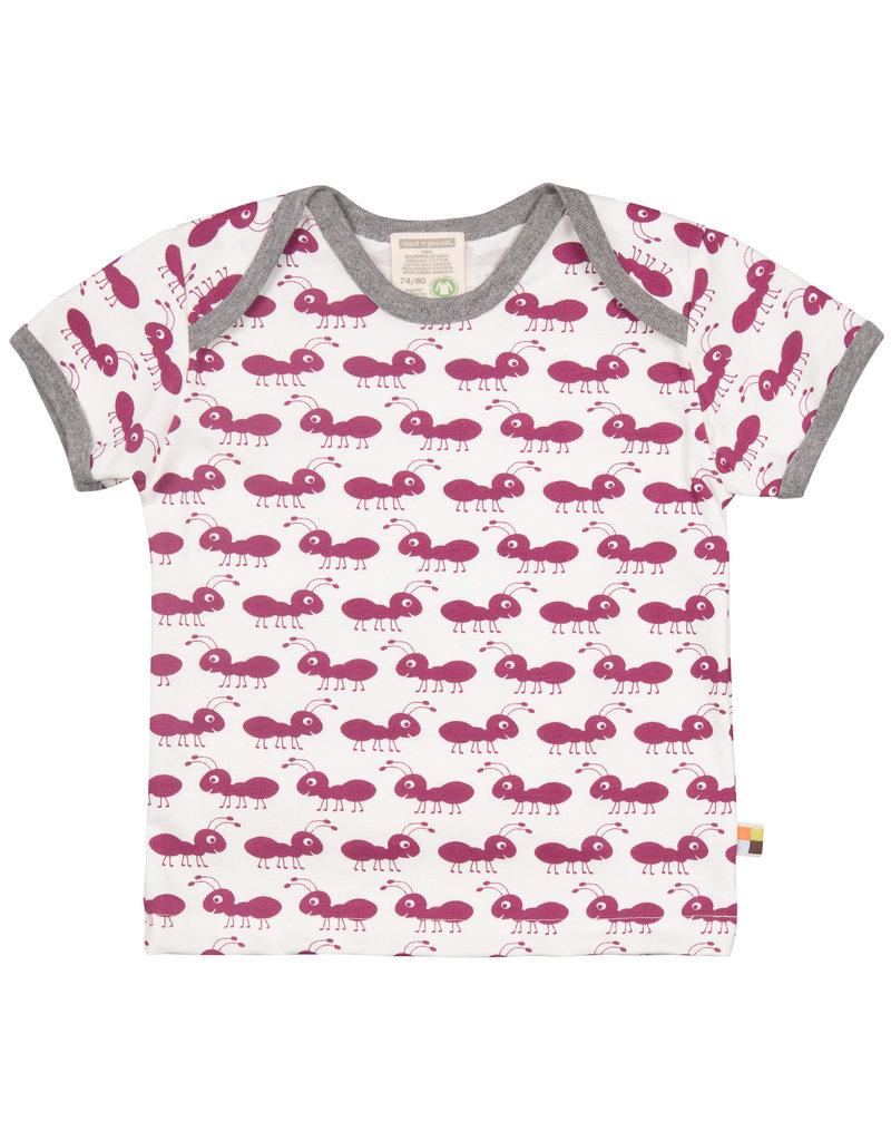 loud+proud Kinder t-shirt - fuchsia mieren
