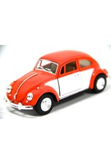 Volkswagen Kever (1:32) - oranje / wit