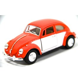 Volkswagen Beetle (1:32) - orange / white