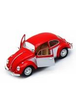 Volkswagen Kever (1:32) - rood / wit