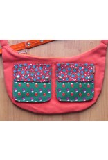 Huisteil Shoulderbag with pockets - little flowers