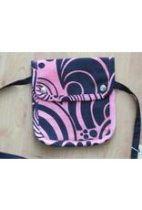 Huisteil Small shoulder bag - pink vintage print