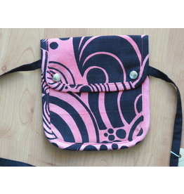 Huisteil Small shoulder bag - pink vintage print