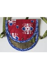 Huisteil Small shoulder bag - red blue green