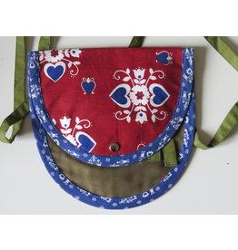 Huisteil Klein schouder tasje - rood blauw groen