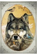 Ansicht kaart - wolf