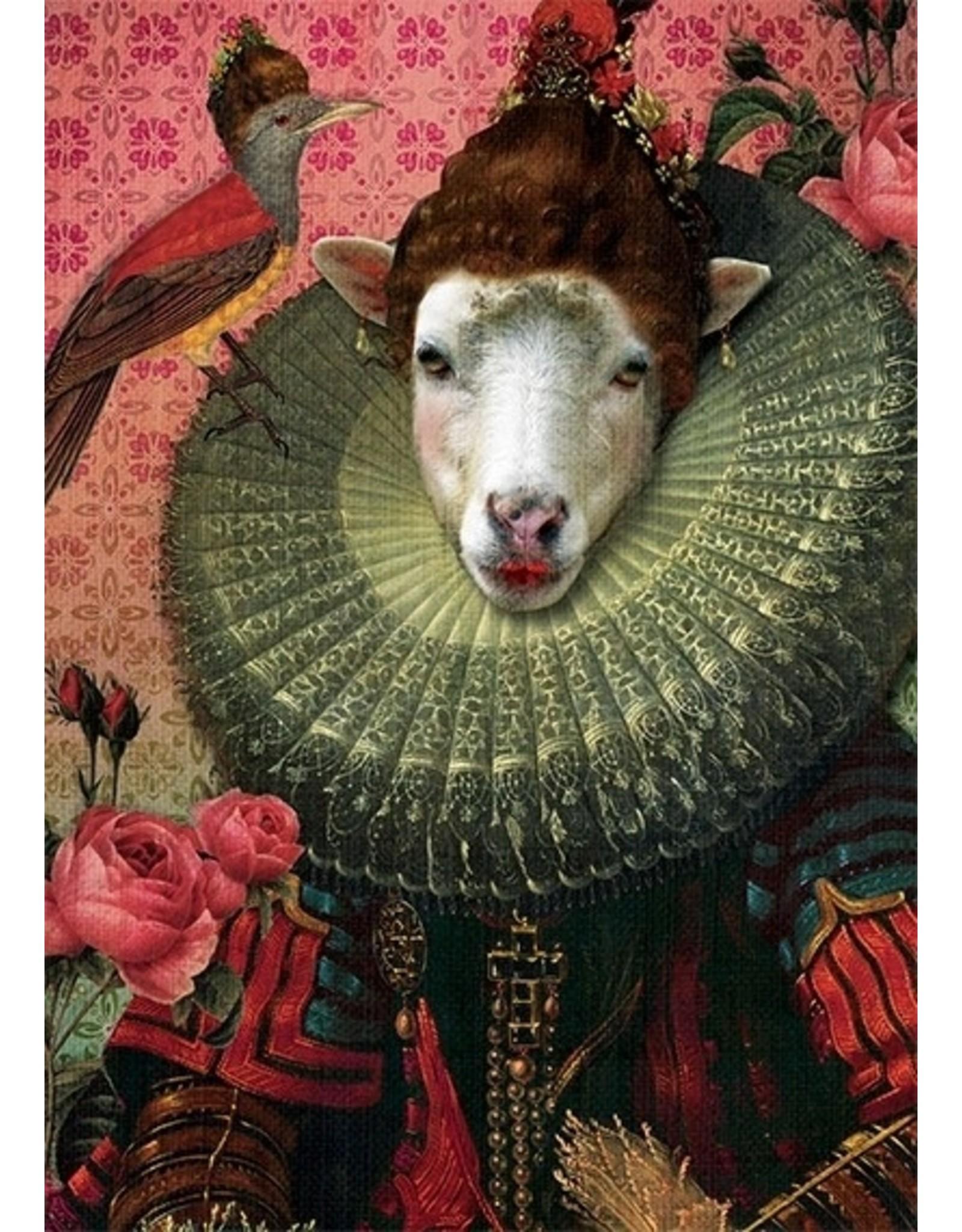 Postcard - collared sheep