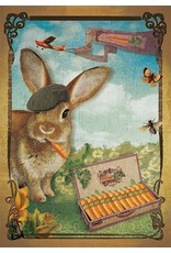 Ansicht kaart - konijn fume une wortel