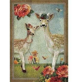 Postcard - deer