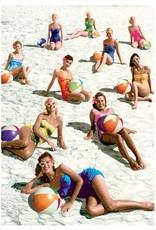Postcard - Beach ball babes