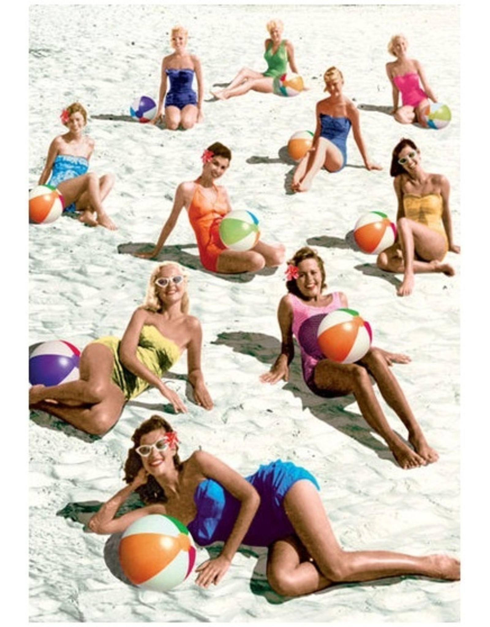Ansichtkaart - Beach ball babes