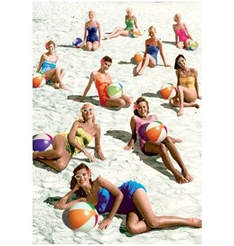 Postcard - Beach ball babes