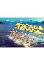 Ansichtkaart - Happy birthday surfers