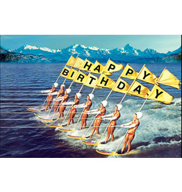 Ansichtkaart - Happy birthday surfers