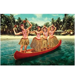 Postcard - Hula canoe