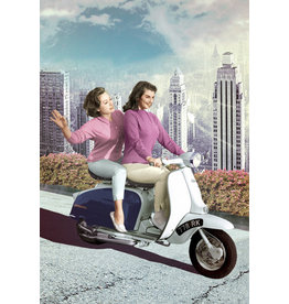 Postcard - Scooter girls