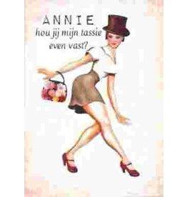 Kaartje - Annie hou jij mijn tassie even vast
