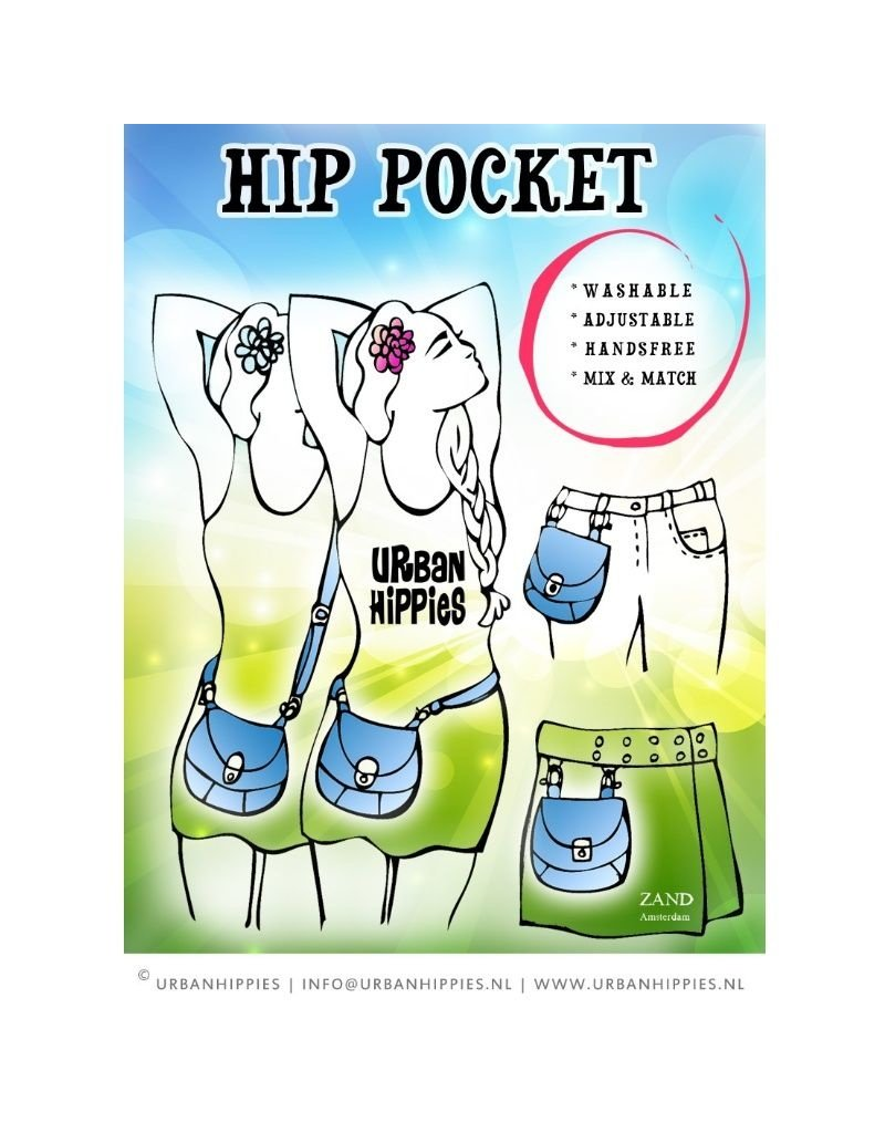 Urban Hippies - hip pocket red