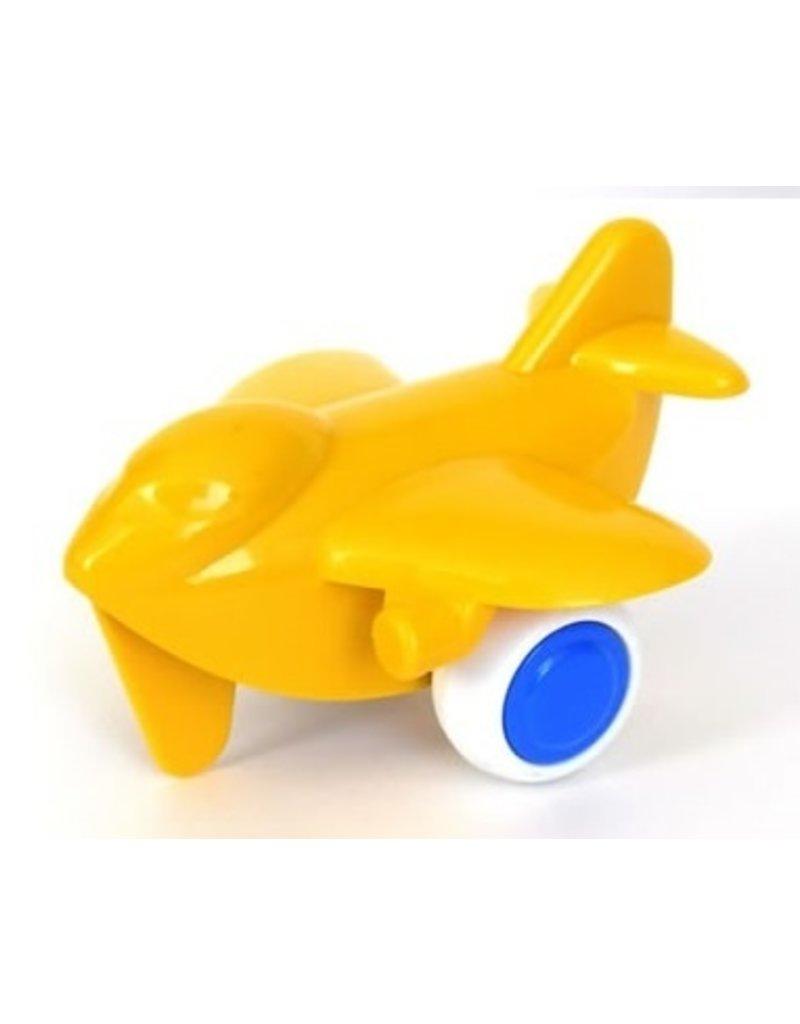 Vikingtoys - geel vliegtuig (10cm)