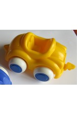 Vikingtoys - gele open auto (10cm)
