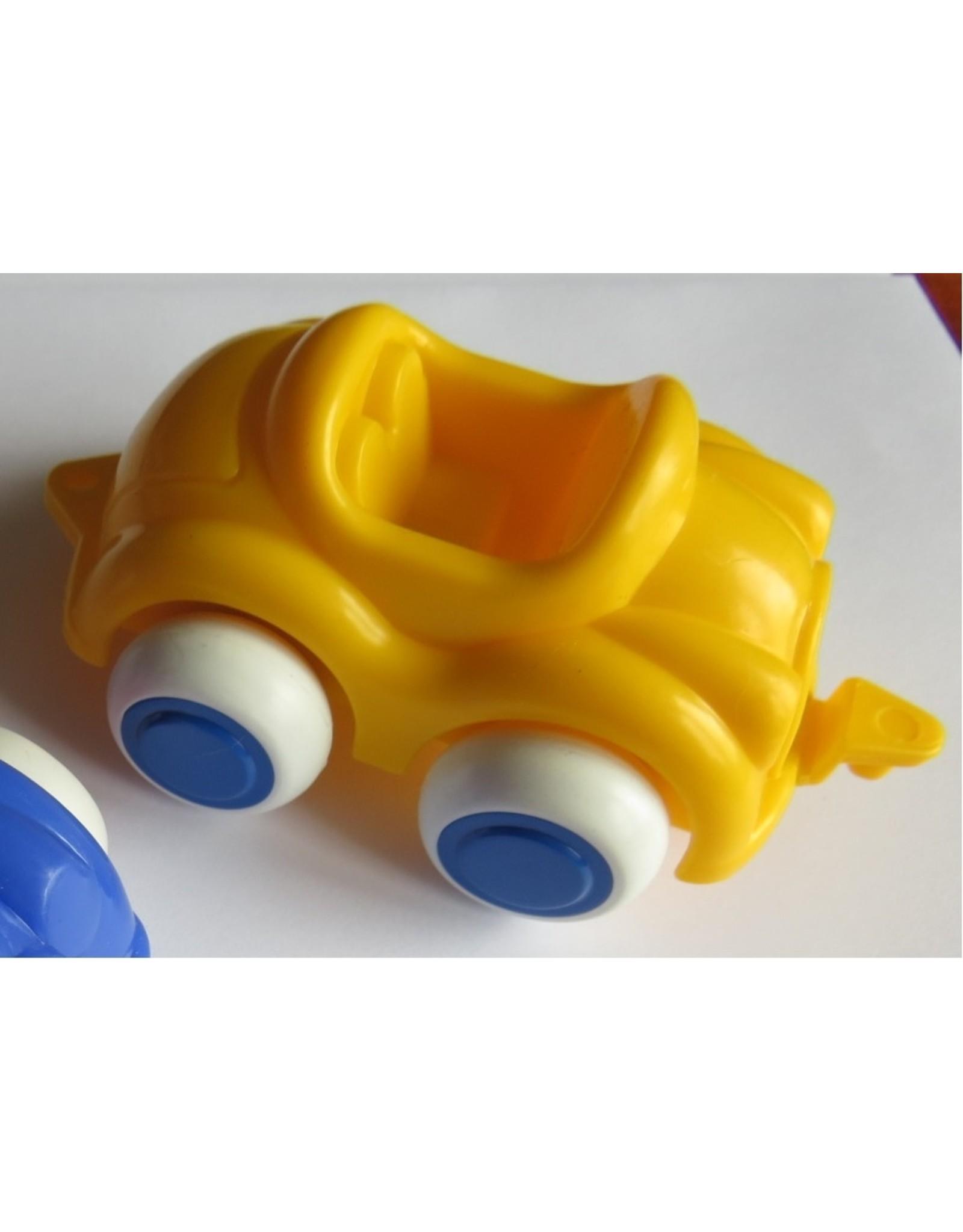 Vikingtoys - yellow open car (10cm)