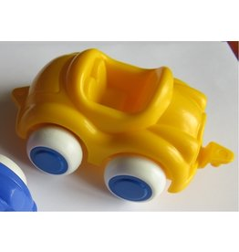 Vikingtoys - yellow open car (10cm)