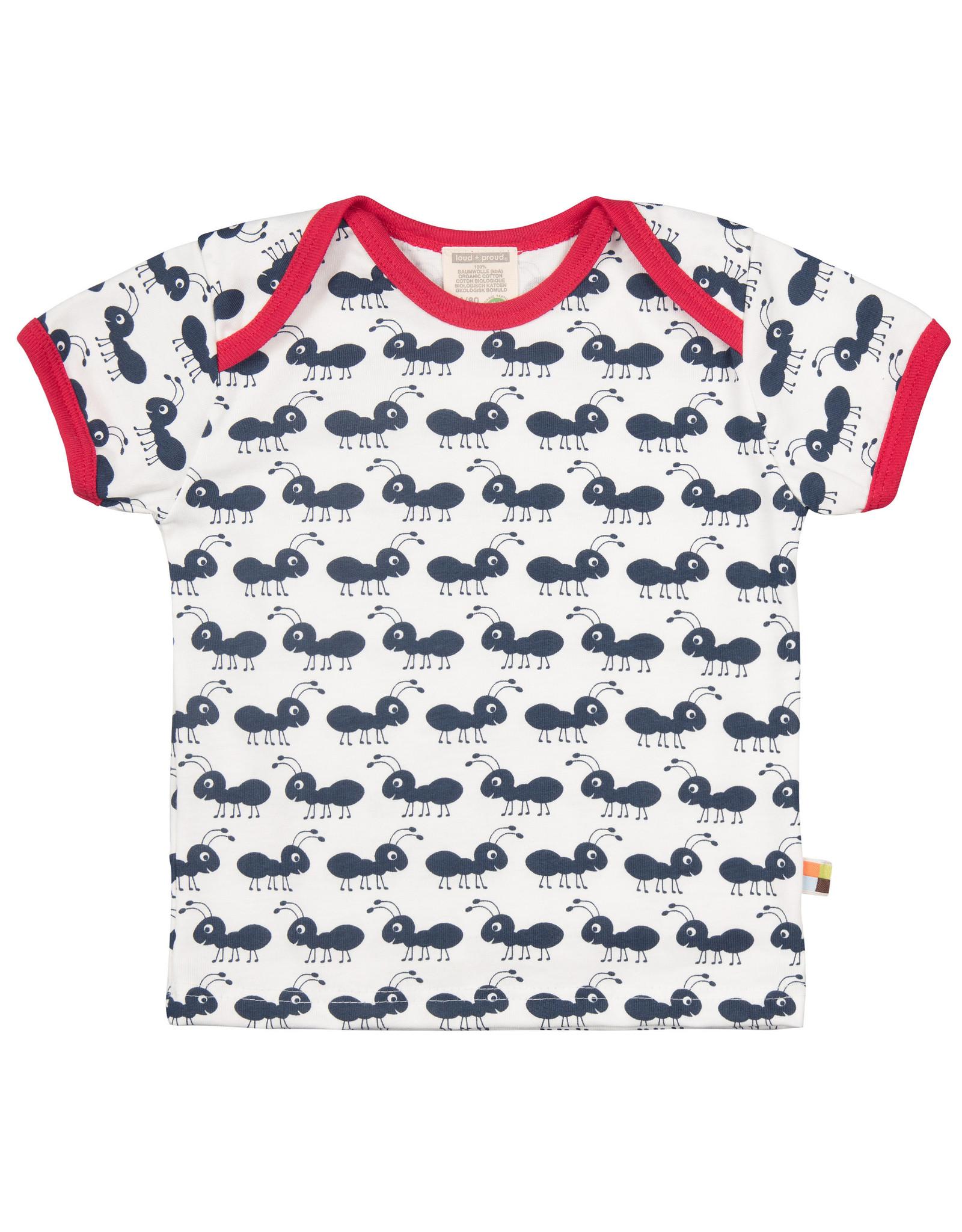 loud+proud Kids t-shirt - blue ants