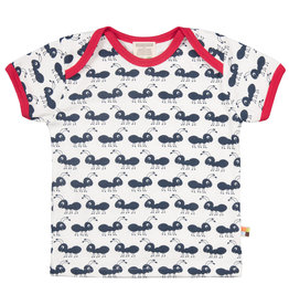 loud+proud Kinder t-shirt - blauwe mieren