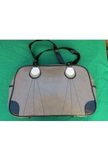 70s up sports bag - grey / brown