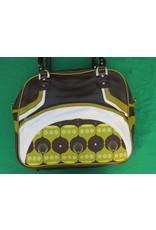 70s up shoulder bag - brown/green