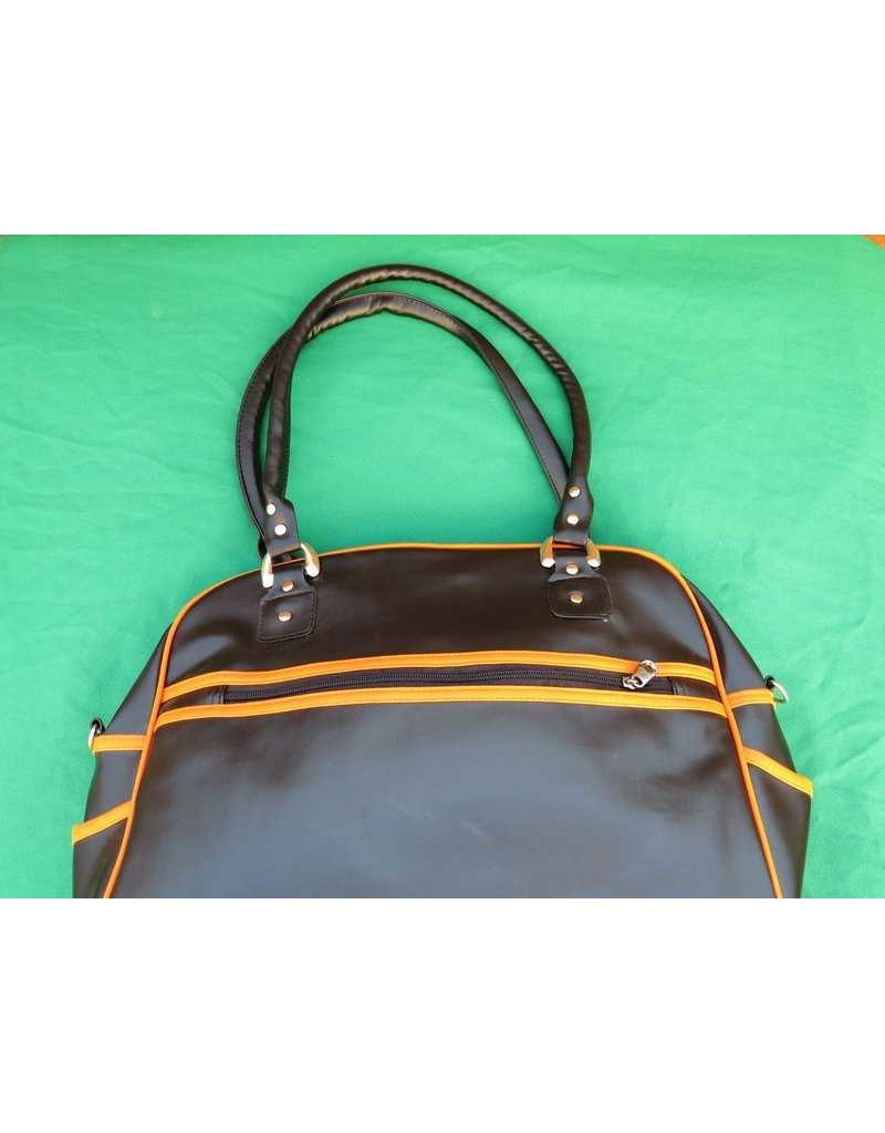 70s up shoulder bag - brown/orange
