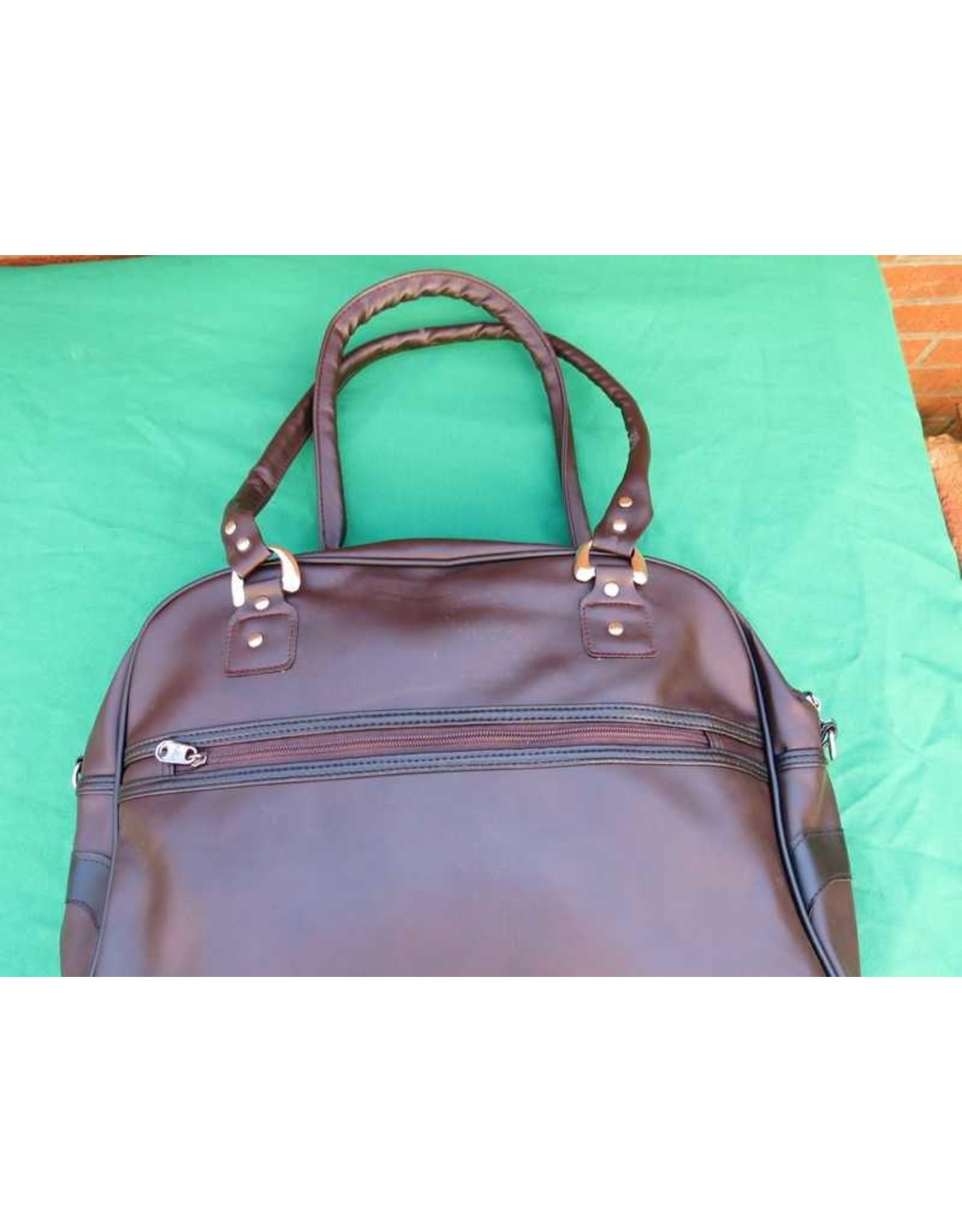 70s up shoulder bag - brown/black