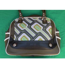 70s up shoulder bag - green/white