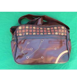 70s up shoulder bag - brown/dark brown
