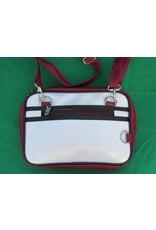 70s up small shoulder bag - bordeaux/white