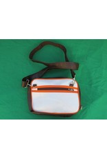 70s up small shoulder bag - brown/white
